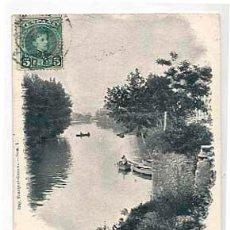 Cartes Postales: GERONA PLAYA DE PEDRET. IMP. FRANQUET Nº 5. REVERSO SIN DIVIDIR. CIRCULADA. Lote 43680066