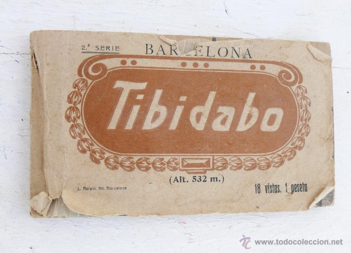 LIBRO TACO CON 17 POSTALES TIBIDABO BARCELONA AÑOS 20 L. ROLSIN (Postales - España - Cataluña Antigua (hasta 1939))