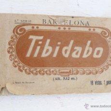 Postales: LIBRO TACO CON 17 POSTALES TIBIDABO BARCELONA AÑOS 20 L. ROLSIN. Lote 43707255