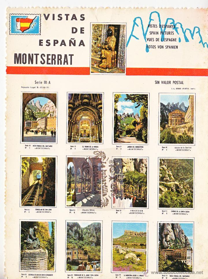 POSTAL - VISTAS DE ESPAÑA - MONTSERRAT - NO CIRCULADA - 18 X 13 CM (Postales - España - Cataluña Moderna (desde 1940))