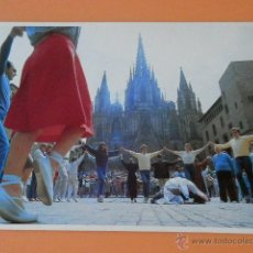 Postales: EL BARRI GÒTIC DE BARCELONA, 14. PLAZA DE LA CATEDRAL. PUERTA DE ACCESO NATURAL AL DENOMINADO BARRI . Lote 43729715
