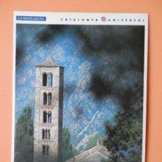 Postales: EL ROMÁNICO, 9. BARRUERA (ALTA RIBAGORÇA). SANT CLIMENT DE TAÜLL, TORRE-CAMPANARIO - JORDI BELVER. Lote 43729739