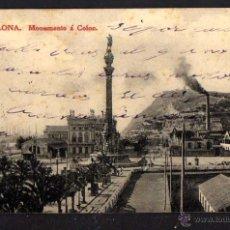 Postales: BARCELONA. MONUMENTO A COLON. CIRCULADA. Lote 43805774