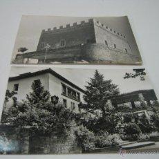 Postales: AÑOS 60 - 2 TRAJETAS POSTALES FOTOGRAFICAS VILADRAU Y CASTILLO DE BALSARENY BARCELONA. Lote 43834717