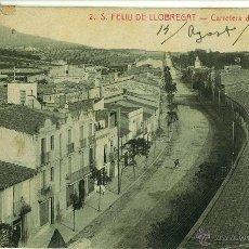 Postales: POSTAL SAN FELIU DE LLOBREGAT. CARRETERA BARCELONA. 1922. FOTO ROISIN. Lote 43840785