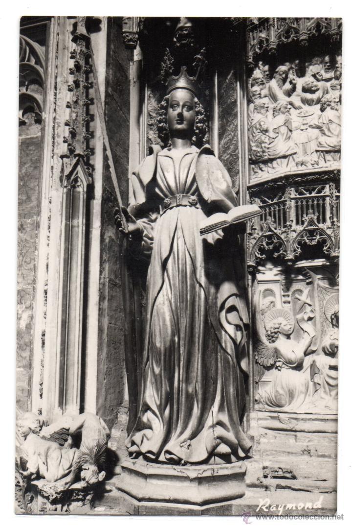 TARRAGONA Nº 92 .- CATEDRAL STA. TECLA PATRONA DE LA CIUDAD .- FOTO RAYMOND (Postales - España - Cataluña Moderna (desde 1940))