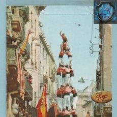 Postales: 1027 POSTAL COLLE VALLS TARRAGONA BANDERAS DE ESPAÑA Y FALANGE ESPAÑOLA CIRCULADA EDICIÓN RAYMON . Lote 44193574