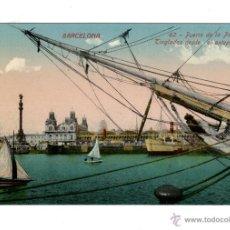 Postales: BARCELONA 62. PUERTO DE LA PAZ Y TINGLADOS DESDE EL PUERTO. ED. J. VENINI. SIN CIRCULAR.. Lote 44211149