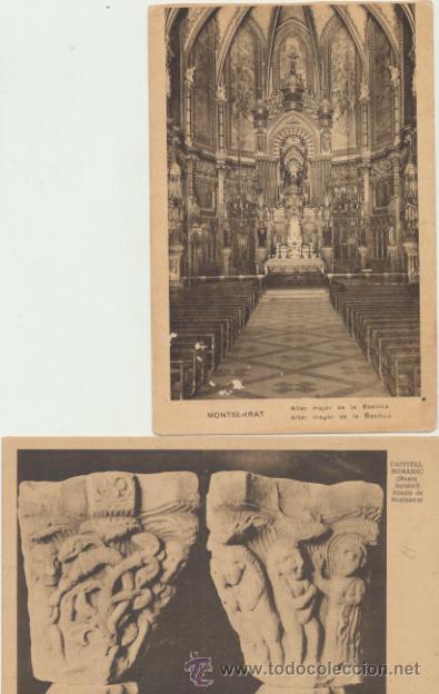 MONTSERRAT.- LOTE DE 2 POSTALES. (Postales - España - Cataluña Antigua (hasta 1939))