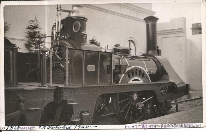 MATARO-FOTOGRAFICA-FERROCARRIL (Postales - España - Cataluña Moderna (desde 1940))