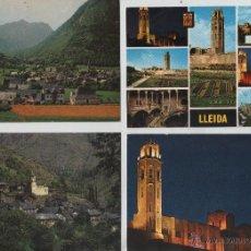 Postales: POSTALES-LOTE DE 5 TARJETAS DE LERIDA (VER FOTOS). Lote 44244960