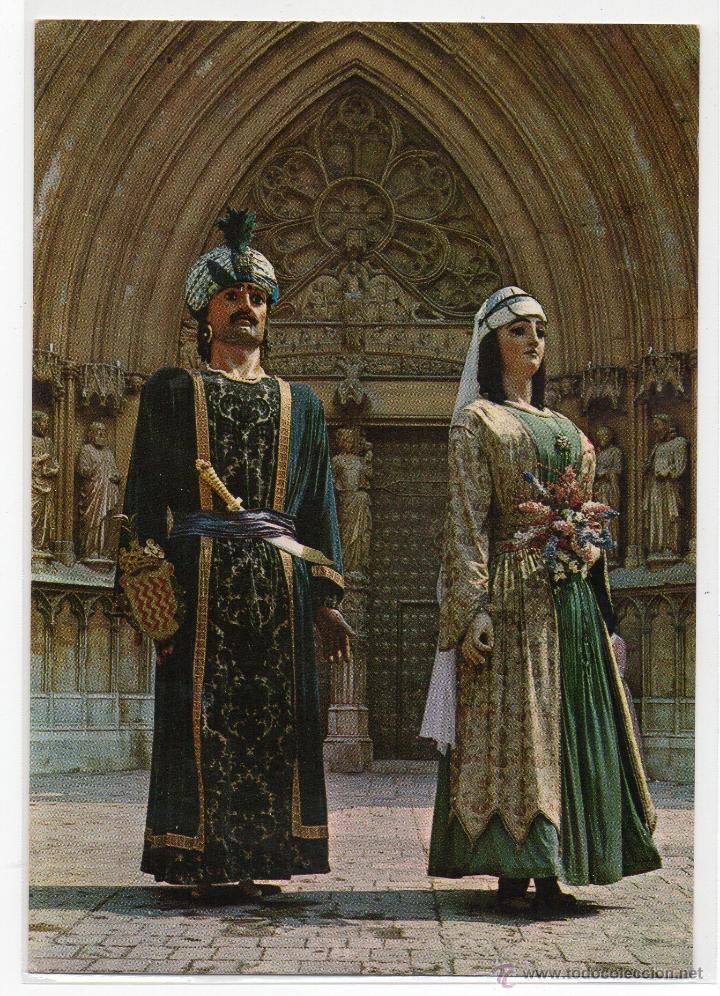 TARRAGONA Nº 21 .- GIGANTES .- FOTO COLOR RAYMOND (Postales - España - Cataluña Moderna (desde 1940))