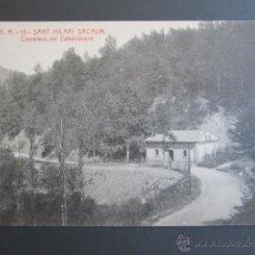 Postales: POSTAL GERONA. SANT HILARI SACALM. CARRETERA DEL ESTABLIMENT. . Lote 44400201
