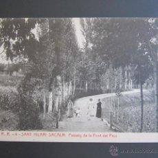 Postales: POSTAL GERONA. SANT HILARI SACALM. PASSEIG DE LA FONT DEL PICO. . Lote 44400320