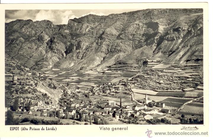 ESPOT - PALLARS - LLEIDA - POSTAL VISTA GENERAL (Postales - España - Cataluña Moderna (desde 1940))