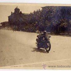 Postales: MOTOCICLISMO. CARRERA EN CUESTA DE LA EXPOSICIÓN. BARCELONA 1930. FOTOGRÁFICA ORIGINAL. Lote 44667913