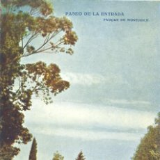 Postales: BARCELONA. NÚM 630. PARQUE MONTJUICH. PASEO DE LA ENTRADA. EDICIONES VICTORIA. N. COLL SALIETI. Lote 44673202