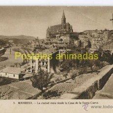 Postales: (A04591) MANRESA - LA CIUDAD VISTA DESDE LA CASA DE LA SANTA CUEVA - Nº3. Lote 44679739