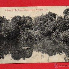 Postales: COLEGIO DE NTRA SRA DE LA BONANOVA. 39 ATV. PARQUE. LAGO. Lote 44732335