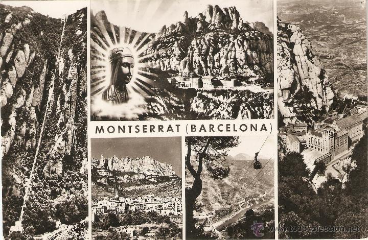 MONTSERRAT 1076 VISTAS DE MONTSERRAT ZERKOWITZ CIRCULADA (Postales - España - Cataluña Moderna (desde 1940))