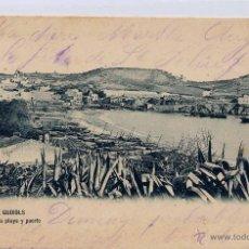 Postales: SAN FELIU DE GUIXOLS (GERONA).- VISTA DE LA PLAYA Y PUERTO. Lote 44840683
