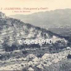Postales: ULLDECONA, VISTA GENERAL Y CASTILLO, EDIT.L.ROISIN. Lote 44867301