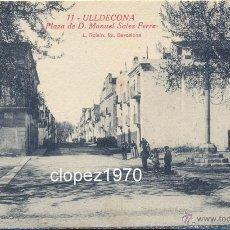 Postales: ULLDECONA, PLAZA DE D.MANUEL SALES FERRER, EDIT.L.ROISIN. Lote 44867343