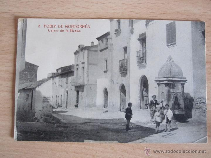 POSTAL DE LA POBLA DE MONTORNES -TARRAGONA (Postales - España - Cataluña Antigua (hasta 1939))