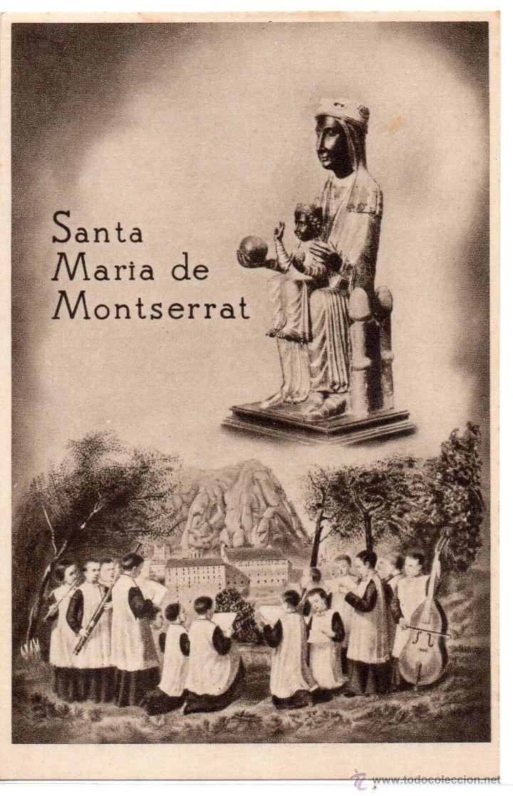 MONTSERRAT .-SANTA MARIA DE MONTSERRAT .- EDICION HUECOGRABADO RIEUSSET (Postales - España - Cataluña Antigua (hasta 1939))