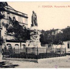 Postales: ANTIGUA POSTAL DE TORTOSA - MONUMENTO A MOSSEN SOL. Lote 45115594