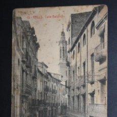 Postales: ANTIGUA POSTAL DE VALLS. TARRAGONA. CALLE BALDRICH. FOTPIA. THOMAS. CIRCULADA. Lote 45416351