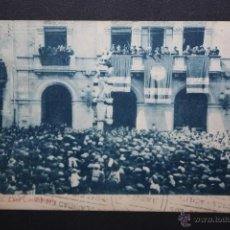 Postales: ANTIGUA POSTAL DE VALLS. TARRAGONA. CASA CONSISTORIAL. FOTPIA. THOMAS. CIRCULADA. Lote 45416377