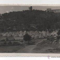 Postales: CASTELLDEFELS .- CAMPAMENTO MILITAR DE LA CANTERA DE CAN AIMERIC.- REG. INFANTERIA JAEN 25 .- 1951. Lote 45521991