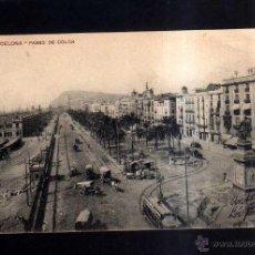 Postales: BARCELONA. PASEO A COLÓN. CIRCULADA 1915. Lote 45538699