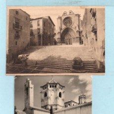 Postales: DOS POSTALES DE TARRAGONA Y MONASTERIO DE POBLET SIN CIRCULAR . Lote 45565453