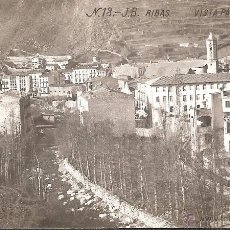 Postales: POSTAL FOTOGRAFICA RIBAS - RIBES DE FRESER - EDITA J B NUM. 13 VISTA PARCIAL 1. Lote 45581413
