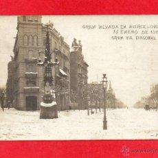 Postales: NEVADA 14 ENERO 1914 DIAGONAL. FOTOGRÁFICA. Lote 45657781