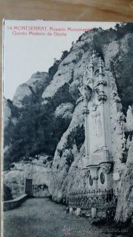 POSTALES RELIGIOSAS / MONASTIR DE MONTSERRAT / COLECCIÓN DE 14 POSTALES (Postales - España - Cataluña Antigua (hasta 1939))