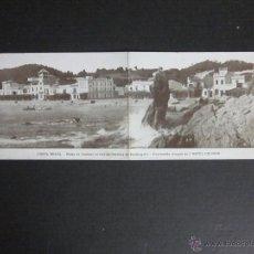 Postales: PALAFRUGELL - PLATJA DE LLAFRANC - POSTAL DOBLE - P. RIBAS . Lote 45741974