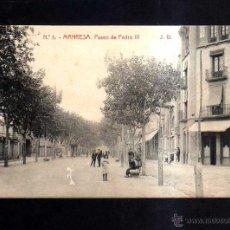 Postales: MANRESA . PASEO DE PEDRO III. . Lote 45786126