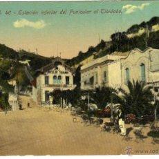 Postales: POSTAL BARCELONA - ESTACION INFERIOR DEL FUNICULAR AL TIBIDABO . Lote 45857348