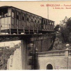 Postales: POSTAL BARCELONA - FUNICULAR DEL TIBIDABO . Lote 45857658