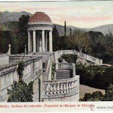 Postales: BONITA POSTAL - BARCELONA - HORTA - JARDINES DEL LABERINTO - PROPIEDAD DEL MARQUES DE ALFARRAS . Lote 116134647