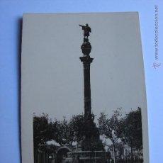 Postales: POSTAL ANTIGUA. BARCELONA. SIN CIRCULAR. MONUMENTO A COLON. Lote 46005178