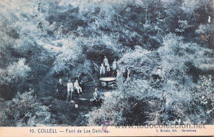 COLLELL ROISIN 10 FONT DE LES DELICIES (Postales - España - Cataluña Antigua (hasta 1939))