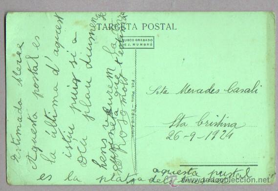 Postales: buena postal de blanes - platja de l, agulla - de j. mumbru nº 7 - 1924 - Foto 2 - 46110847