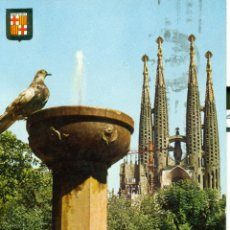 Postales: BARCELONA TEMPLO DE LA SAGRADA FAMILIA DETALLE. Lote 46121869