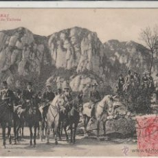 Postales: Nº 16278 POSTAL MONTSERRAT BARCELONA GRUPO DE TURISTAS CIRCULADA EN 1911. Lote 46139500