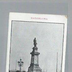Postales: TARJETA POSTAL BARCELONA, ESTATUA DE ANTONIO LÓPEZ, PRIMER MARQUÉS DE COMILLAS, TIP. LUIS TASSO. Lote 46167545