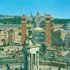 Postales: BARCELONA PLAZA DE ESPAÑA FUENTE MONUMENTAL. Lote 46176952